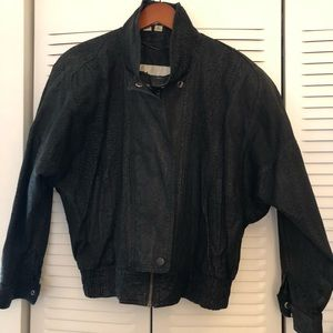 Wilson's Leather and Suede Black Jacket, Size L